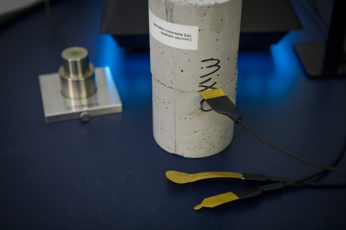 Thermal Conductivity Testing of Concrete with TPS