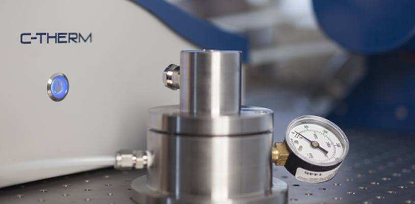 C-Therm offers a range of high pressure cells to safely characterize the thermal conductivity of samples under elevated pressure environments up to 2000 PSI (~138 bar).