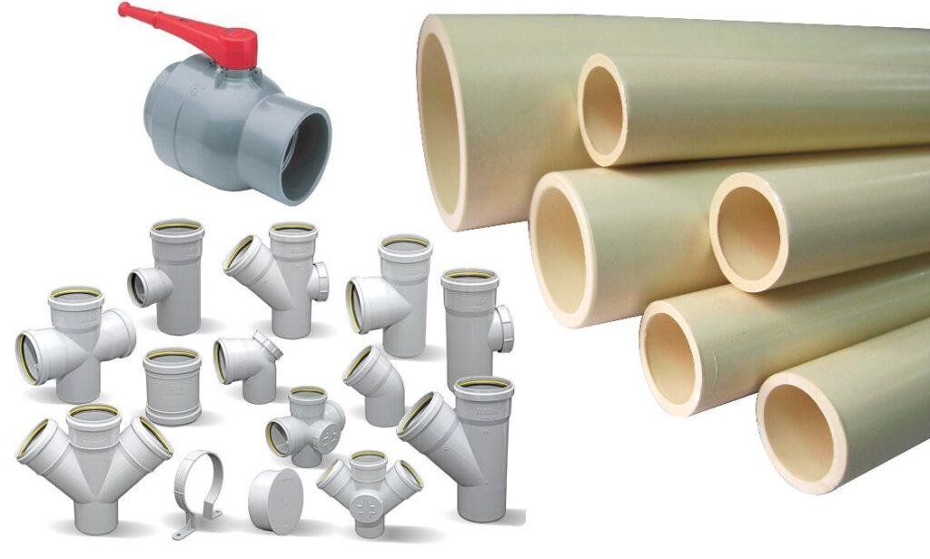 Chlorinated polyvinyl chloride used as the material of choice for plumbing valves and pipes