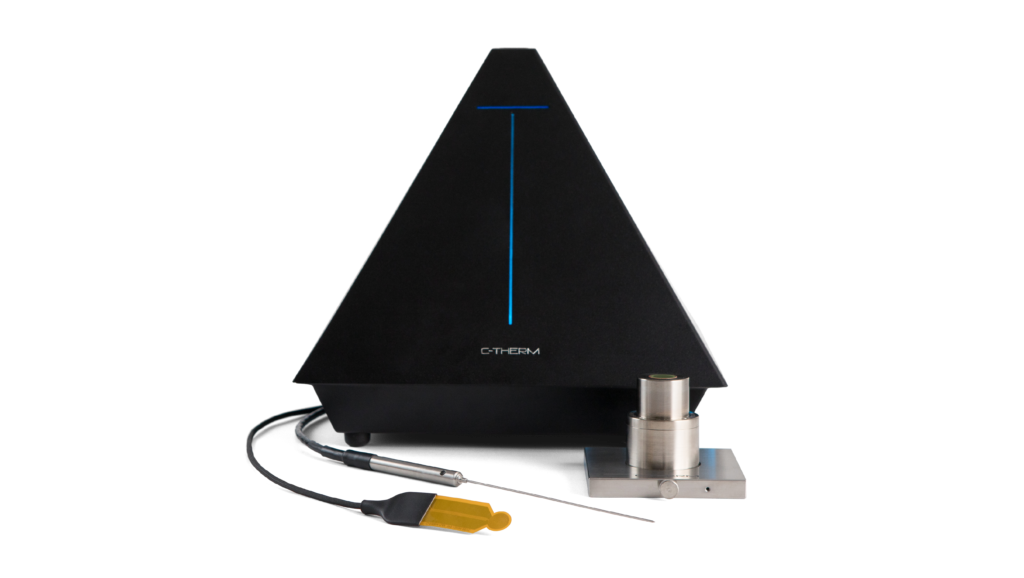 The Trident Thermal Conductivity Instrument offers MTPS, TPS, and TLS testing options.