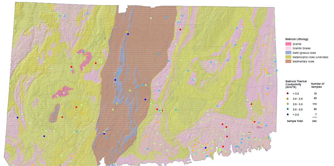 Researchers in Connecticut at the Department of Energy and Environment mapped the region for geothermal heat exchangers using C-Therm's MTPS thermal conductivity instrument. Photo Source:  https://portal.ct.gov/-/media/DEEP/geology/geothermal/Bedrockthermalconductivitymappdf.pdf